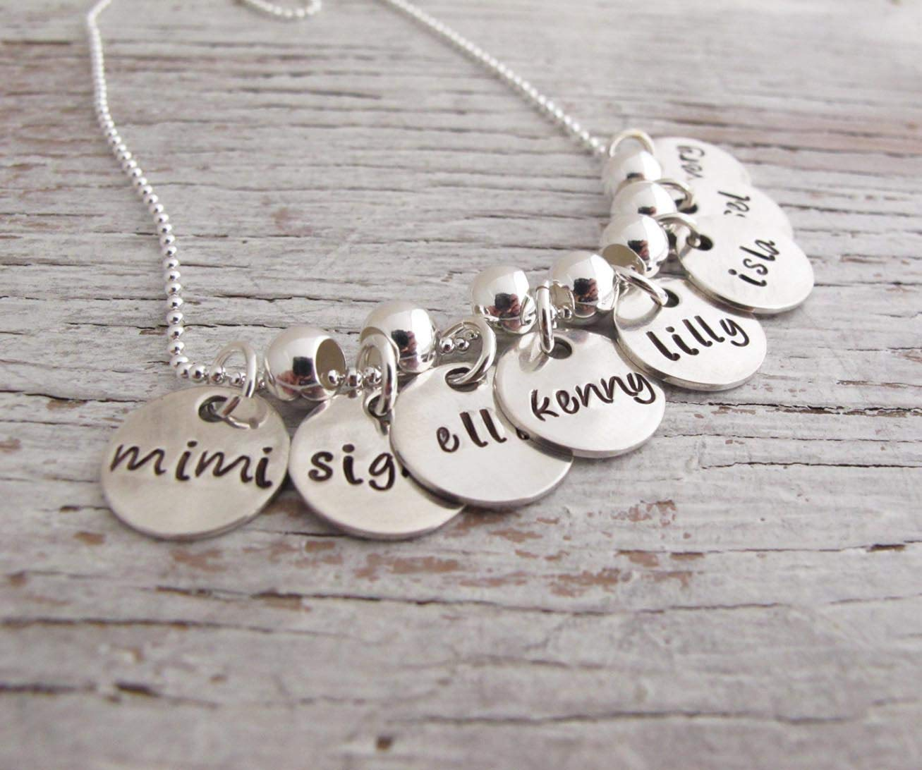 Amazon Com Hand Stamped Grandmother Necklace Family Charms