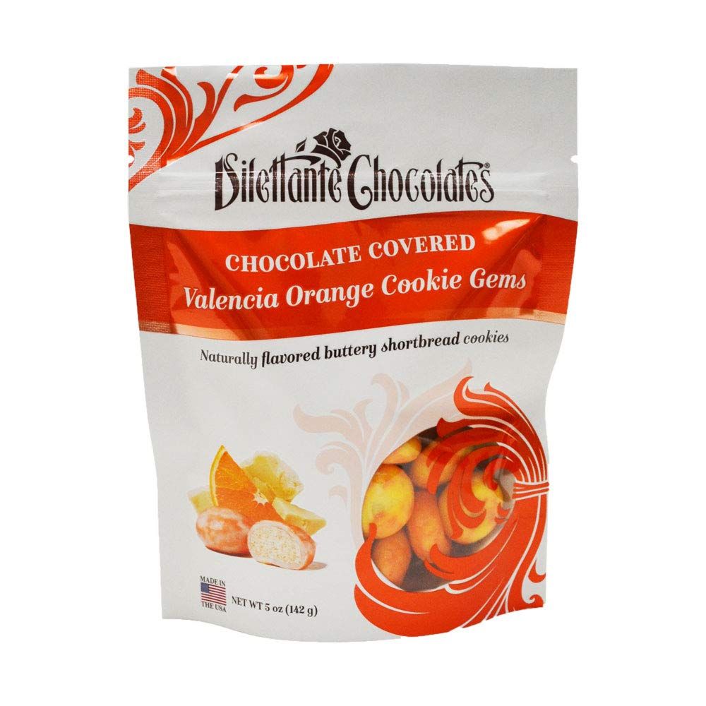 Valencia Orange Chocolate Shortbread Cookie Gems - 5 oz Bag ...