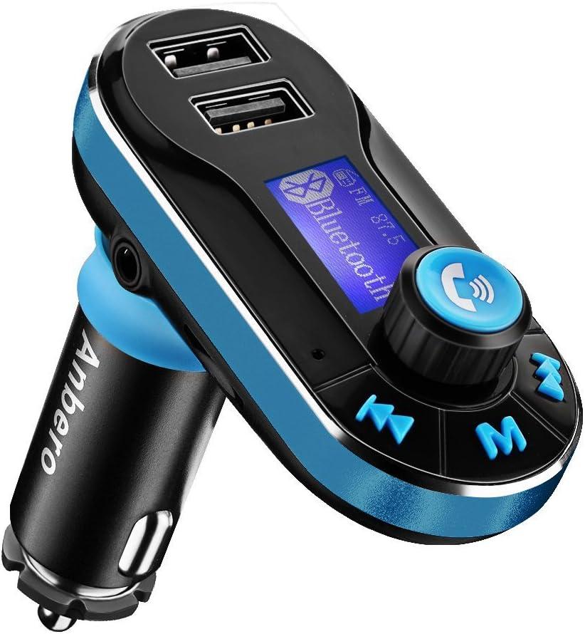 Transmisor FM Bluetooth para Coche, Kit Manos Libres para Coche ...