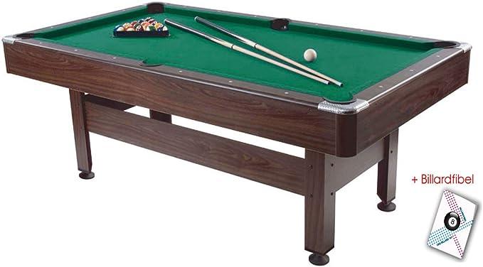 Mesa de billar Virginia 213.36 cm, 200 x 100 cm de la superficie de juego: Amazon.es: Deportes y aire libre