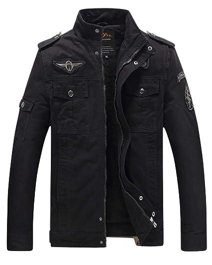 Eklentson Winter Jacket For Mener Jackets For Men Parka Coats Men Military Coat Winter Black