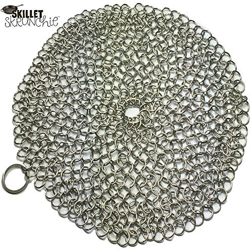 Skillet Skrunchie Cast Iron Chainmail Cleaner, 7x7 Inch Round (Miracle Cookware compare prices)