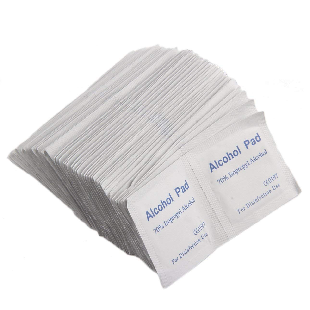 Liobaba 100PCS/Box Professional Alcohol Wipe Pad Medical Swab Sachet Antibacterial Tool Cleanser Cleanning Non-Woven Fabric Paper