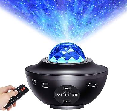 Lampada Proiettore Stelle Onde Oceaniche Nebulosa LED Hangrui Proiettore Galassia Luce Notturna con Telecomando Altoparlante Bluetooth e Lettore Musicale per Compleanno//Natale//San Valentino