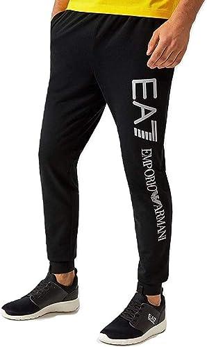 ea7 black tracksuit bottoms