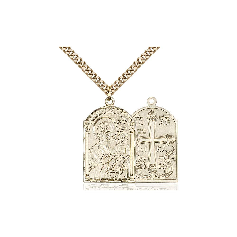 DiamondJewelryNY 14kt Gold Filled Mother of God Pendant