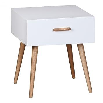 weißer Nachttisch für Retro-Look