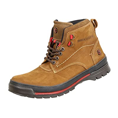 SWISSBRAND Mens Grisones Hiking Boots Outdoor Lightweight Shoes. Hazelnut: Clothing