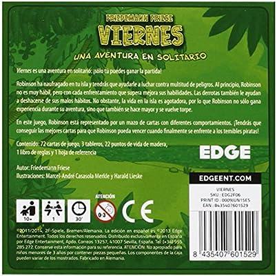 Edge Entertainment Viernes. Juego de Cartas: Amazon.es: Juguetes y ...