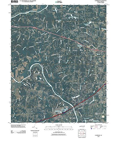 North Carolina Maps | 2010 Clemmons, NC USGS Historical Topographic | Cartography Wall Art | 24in x 30in