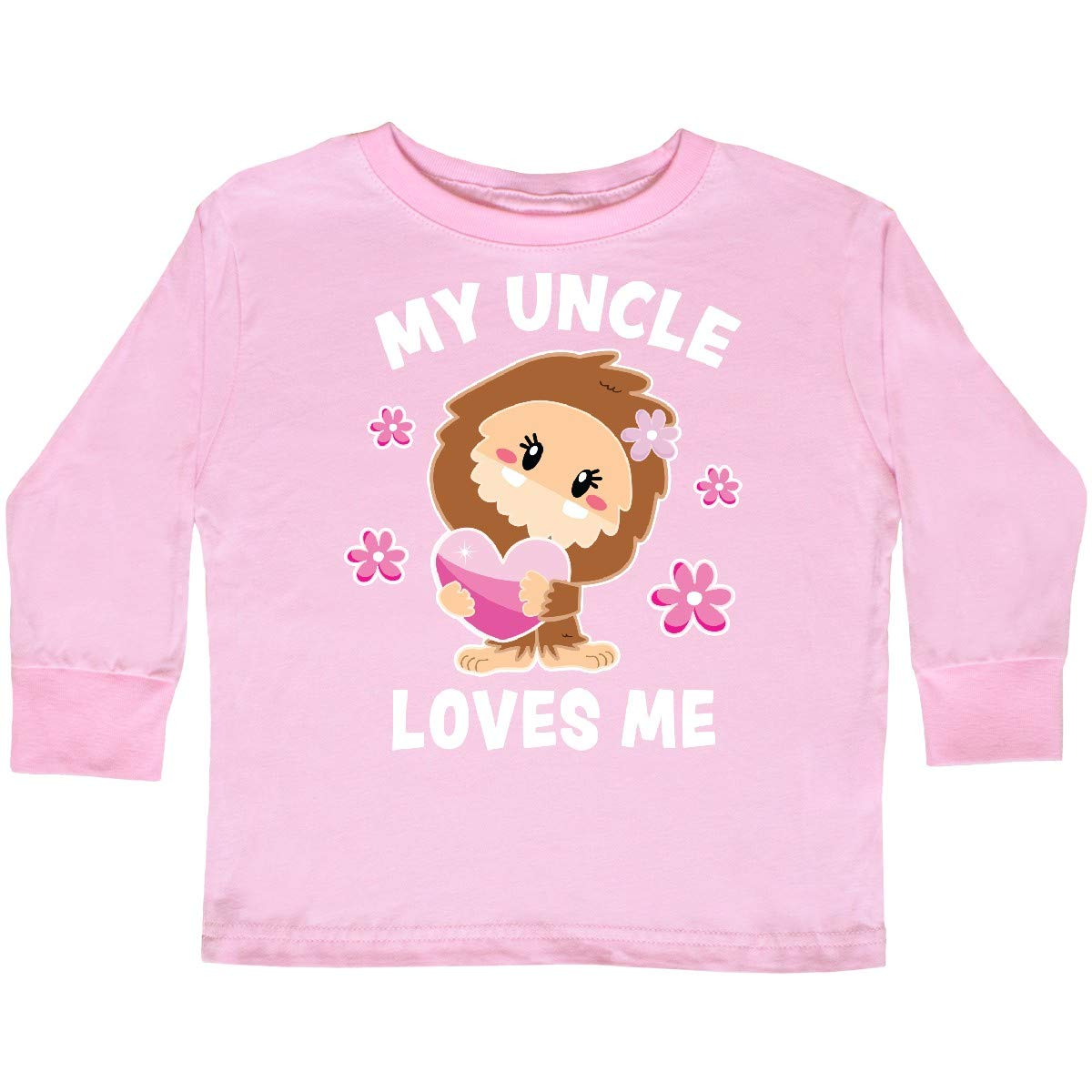 inktastic My Uncle Loves Me with Bigfoot Toddler Long Sleeve T-Shirt