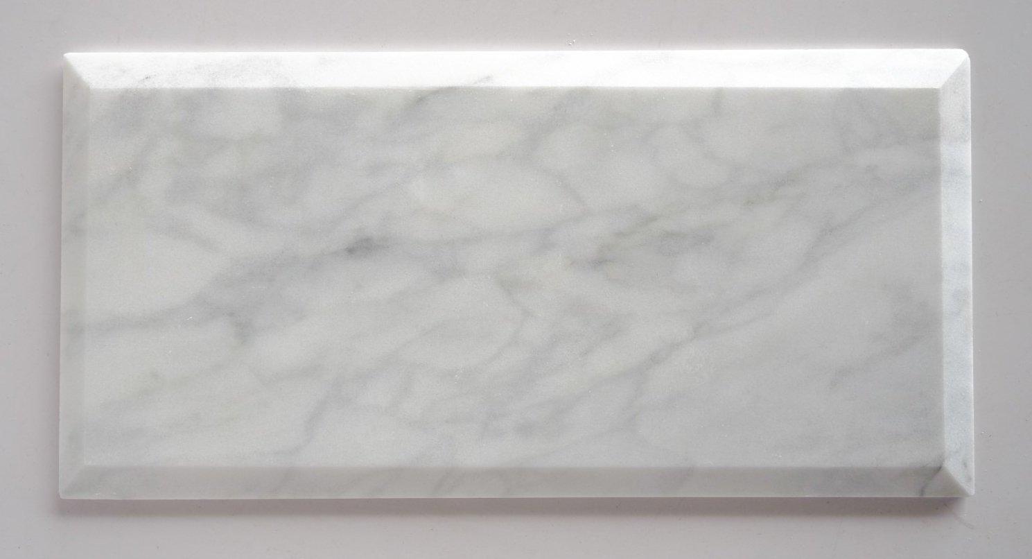 Bianco venatino marble 6x12 deep beveled polished subway tile bianco venatino marble 6x12 deep beveled polished subway tile standard quality lot of 20 sq ft amazon dailygadgetfo Gallery