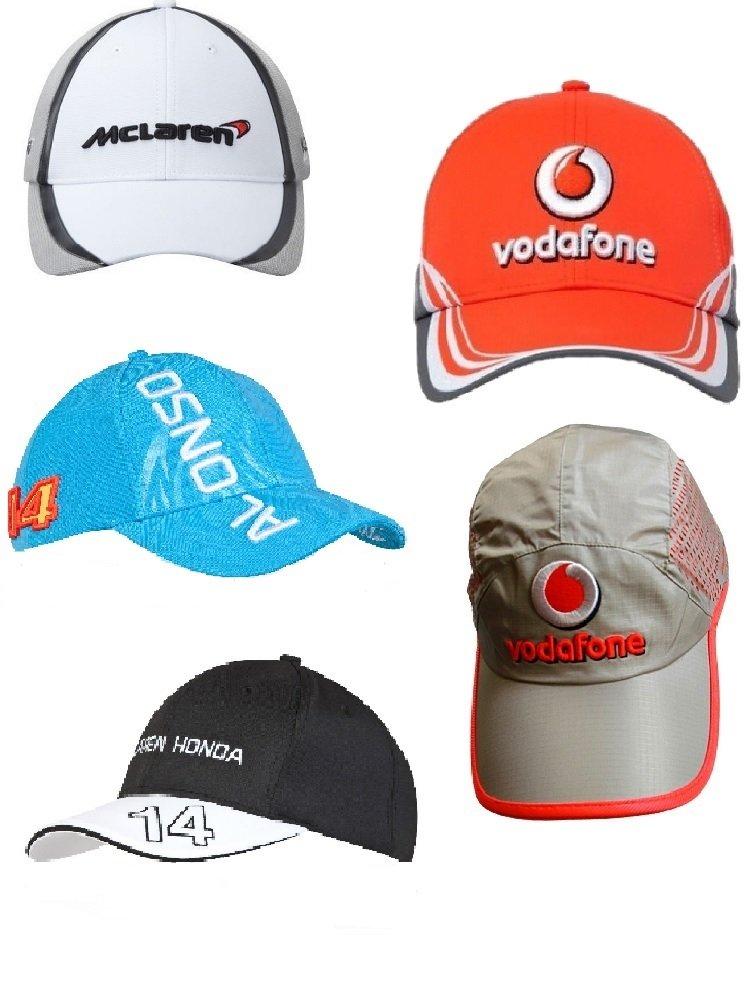 5 x 1 de Fórmula Uno McLaren botón Alonso Magnussen Caps: Amazon ...
