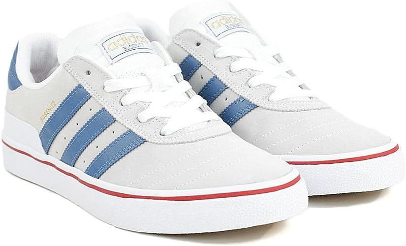 Polinizador objetivo Sin cabeza  Adidas Busenitz Vulc - White / Ash Blue / Power Red: Amazon.co.uk: Shoes &  Bags