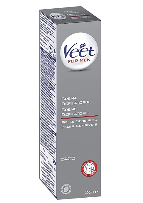 Veet For Men Crema Depilatoria - Piel Sensible 200ml: Amazon ...