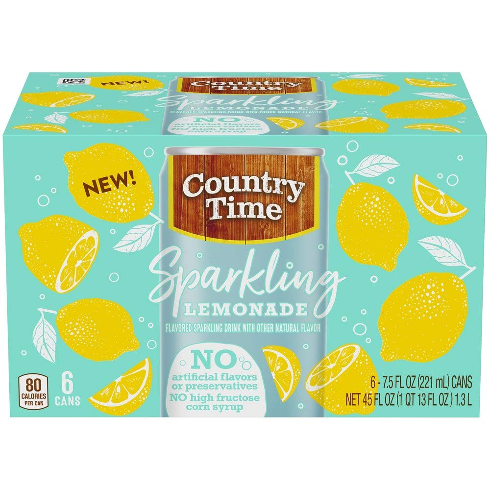 Country Time Sparkling Lemonade (Pack of 4)