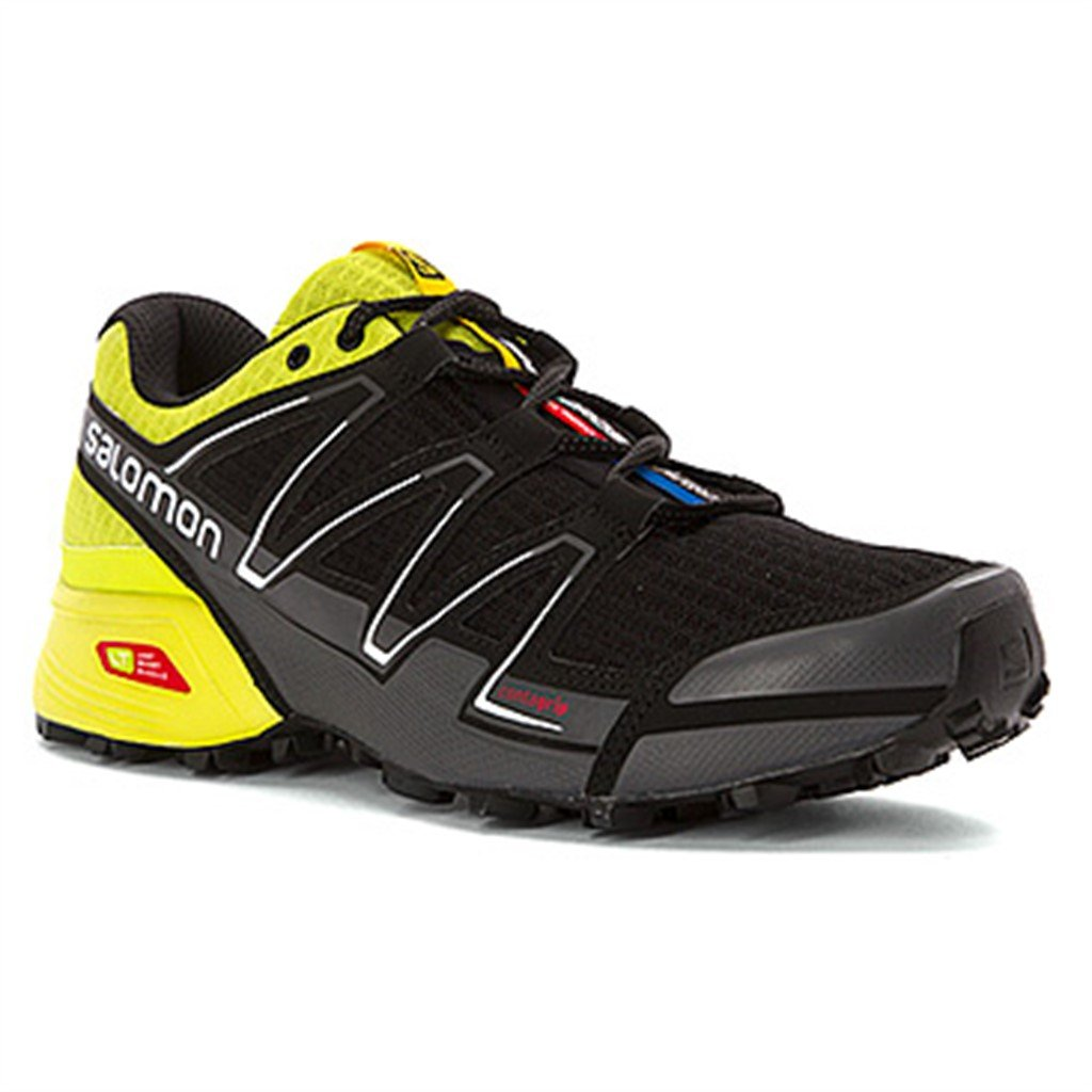 Salomon Men's Speedcross Vario, BlackGecko GreenDark Cloud, 9