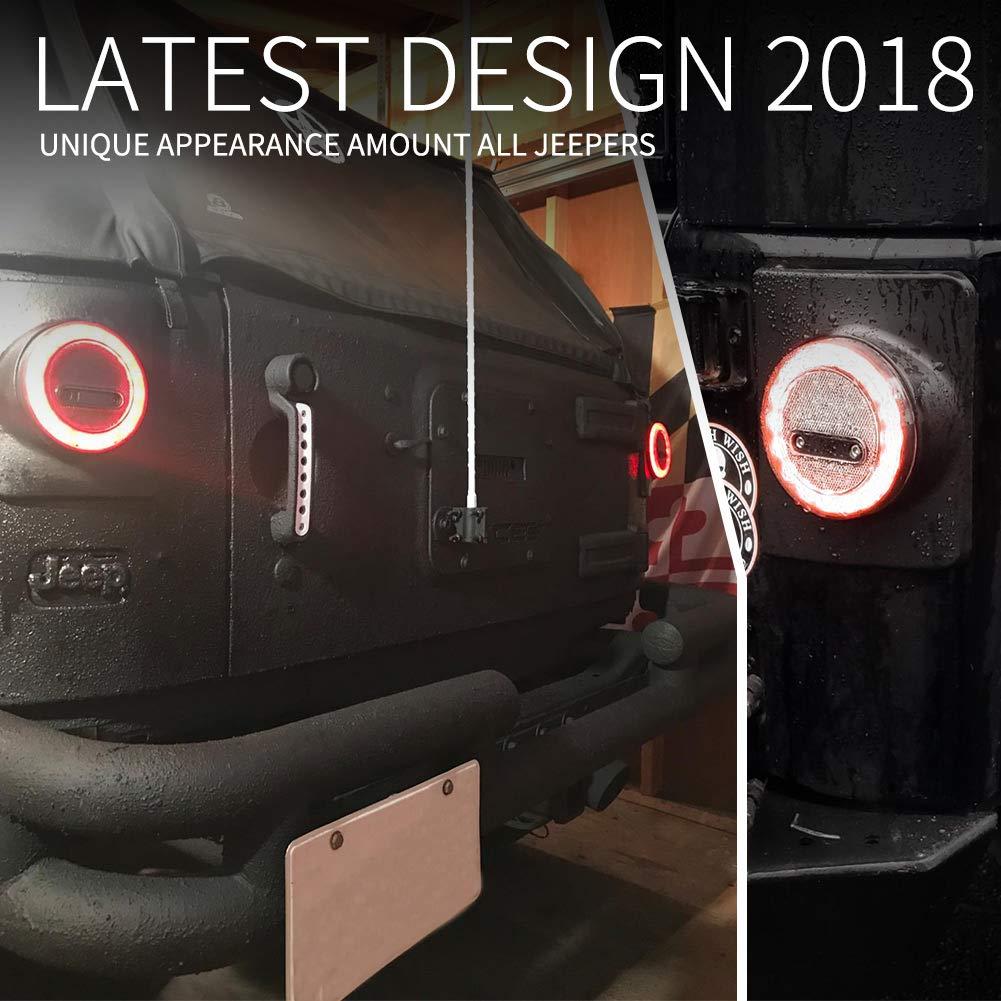 left-hand-drive model 2 Years Warranty Zhongxin JK-SW Liteway Black A-Pillar Switch Left Hand Pod Panel 4 LED Rocker Switch for Jeep Wrangler JK 11-16