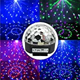 Minger MP3 Crystal Magic Ball, LED RGB Stage Light With Loudspeaker Memory Card & Wireless Presenter Function & Remote Controller for KTV, Xmas Party, Wedding, Show, Club, Pub, Disco, DJ