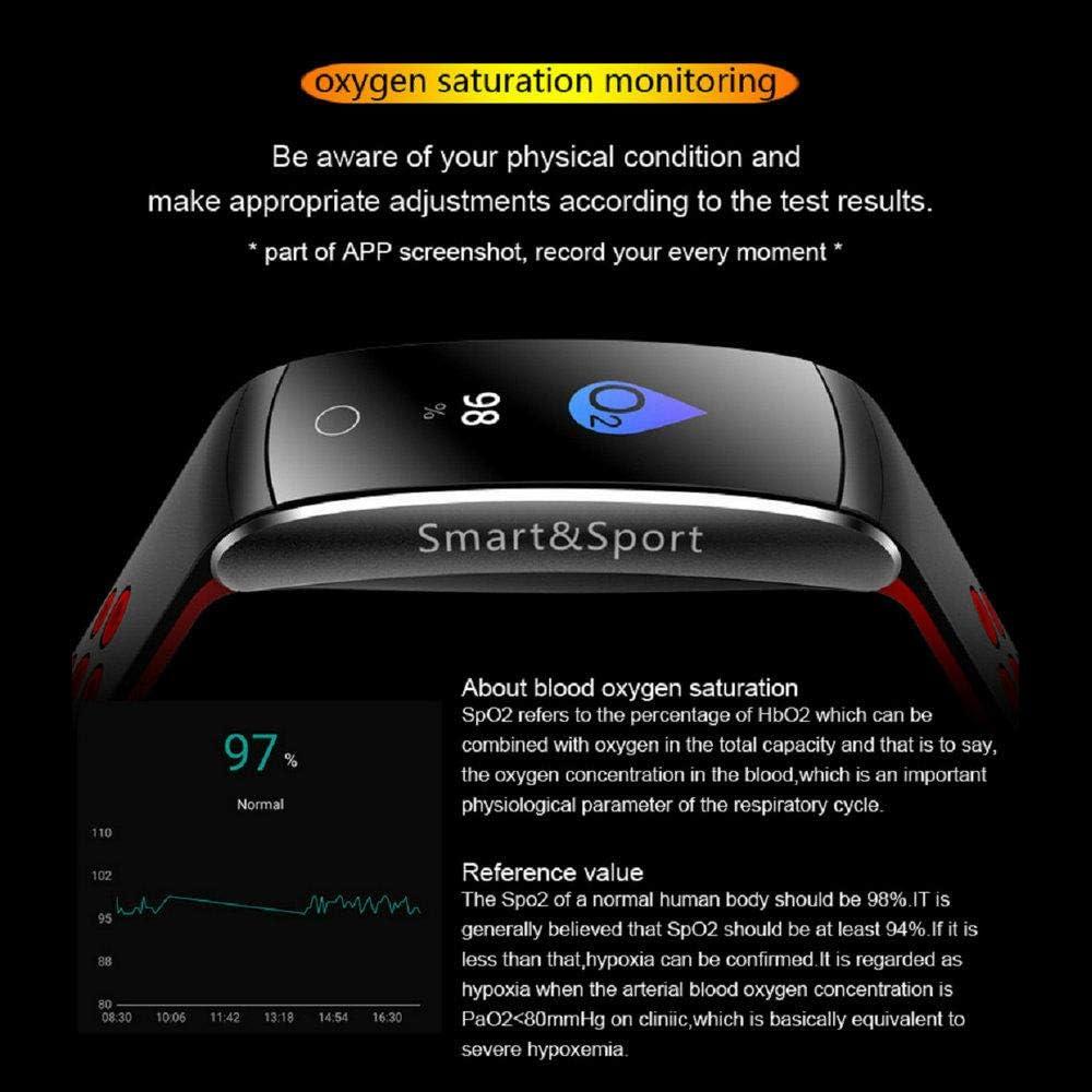 Smart Wristband Cardiofrequenzimetro Fitness Tracker Braccialetto Intelligente Pressione sanguigna Sport Smart Band Rosso