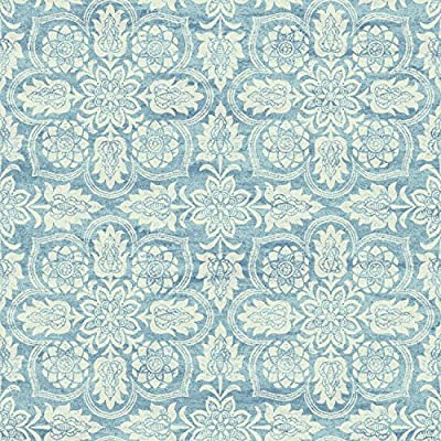 York Wallcoverings WC7501 Waverly Classics II Curators Gem Removable Wallpaper, Blues/White/Off Whites