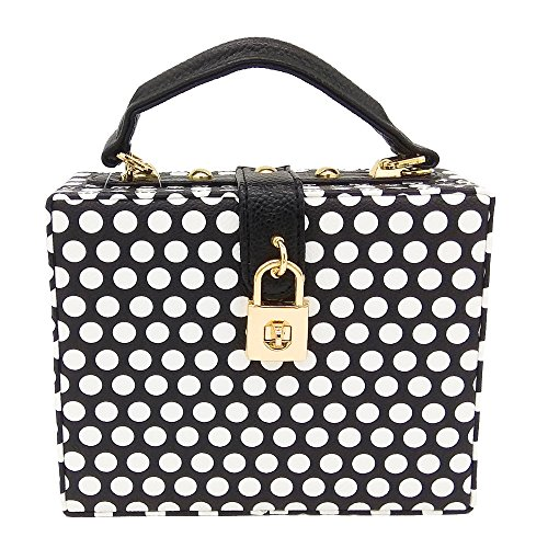 (Polka Dot Black Women Fashion Shoulder & Crossbody Handbags and)