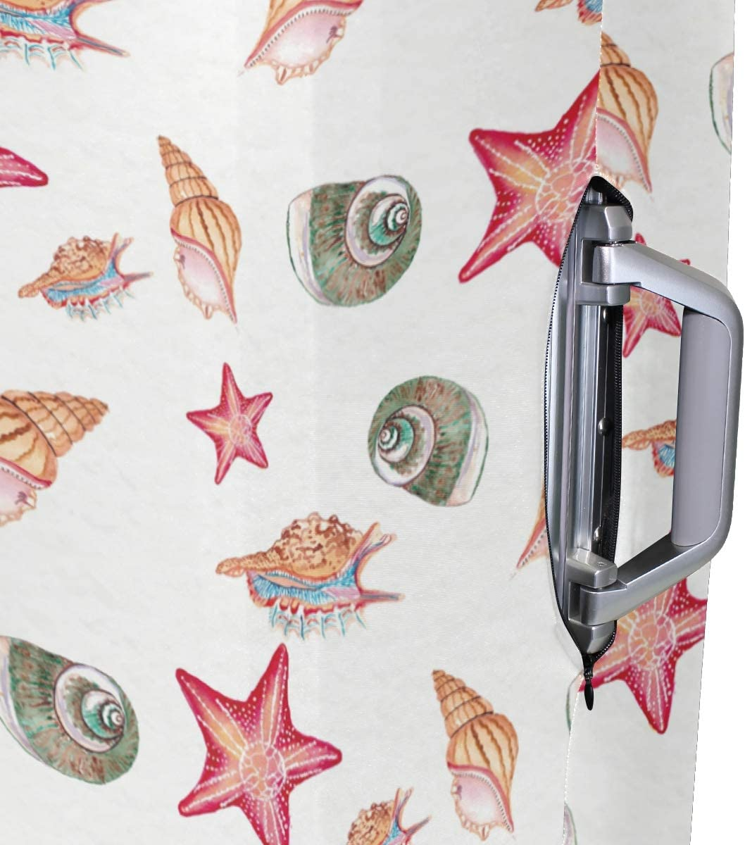 Baggage Covers Watercolor Seashell Starfish Pattern Washable Protective Case