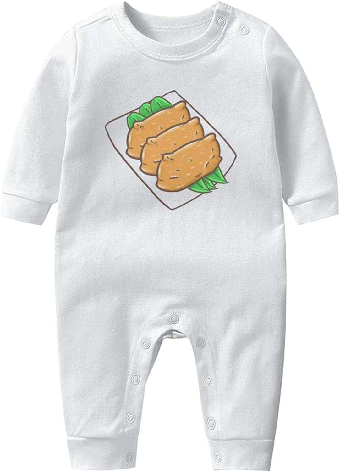 Miyako Sushi on The Plate Baby Boys Girls Long Sleeve Baby Onesie Babys Creeper