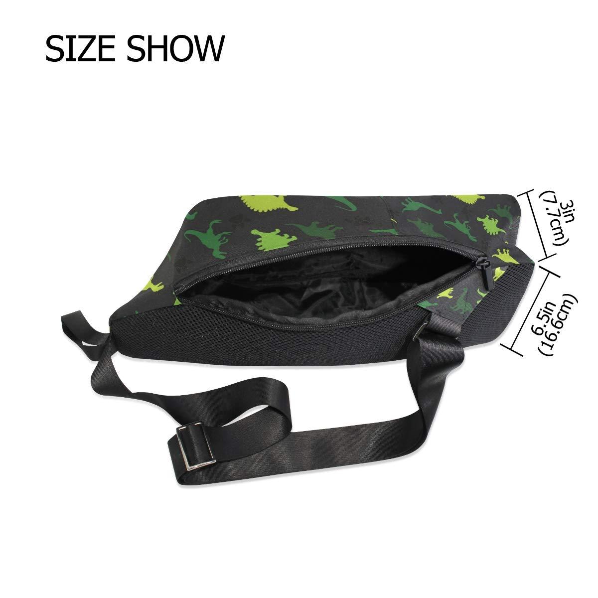 AHOMY Dinosaur Paw Print Messenger Bag Small Travel School Sling Bag Crossbody Bag