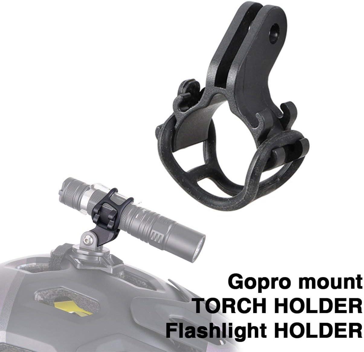 schwarz MXECO ZTTO Fahrrad-Licht-Fackel-Halter Taschenlampe Halterung f/ür Rennrad MTB Fahrradteile angepasst Halterung