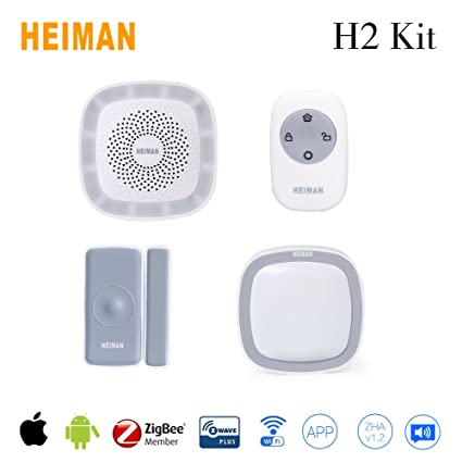 HEIMAN H2 Kit Smart Home Pack IOS Android with Zigbee Automation Technology DIY Installation Support Wifi