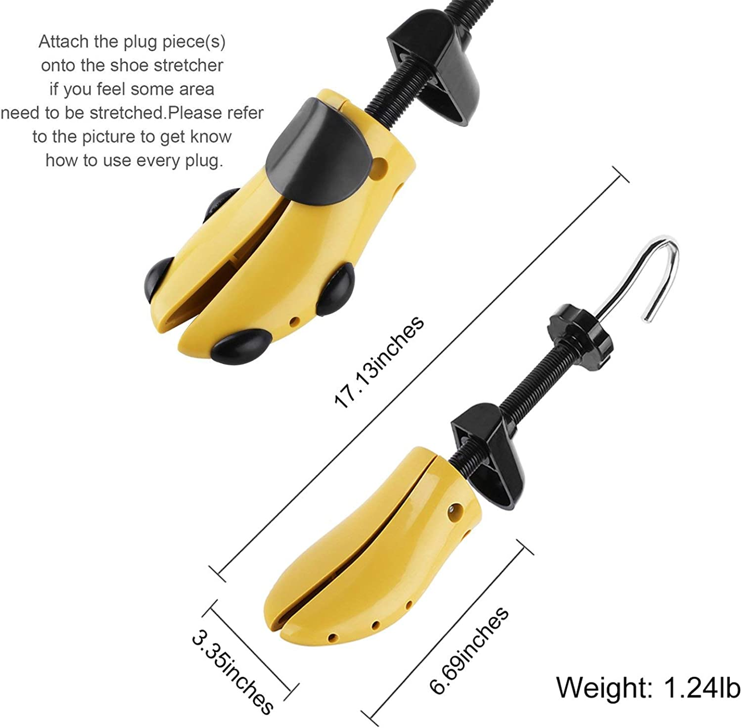 Yellow 7-12.5 Plastic Shoe Stretcher Used to Widen Shoes Lengthen the Plastic Tree Shoes More Durable than Ordinary Wood High-Quality Shoe Stretchers Expander