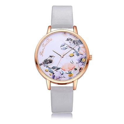 cfa201d9fd Amazon.com: BEUU Watch Waterproof Bird Dial Luxury Fashion Leather ...