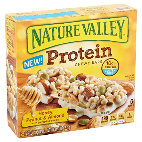 Nature Valley Protein Chewy Bar, Honey, Peanut & Almond with Pumpkin Seeds, 1.42 Ounce, 5 Count (Pack of 3) by Nature Valley