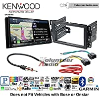 Volunteer Audio Kenwood DNX874S Double Din Radio Install Kit with GPS Navigation Apple CarPlay Android Auto Fits 2007-2013 Silverado, Avalanche