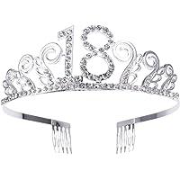 Frcolor Birthday Crowns Rhinestone Birthday Tiara Happy Th Birthday Birthday Tiara As Shown