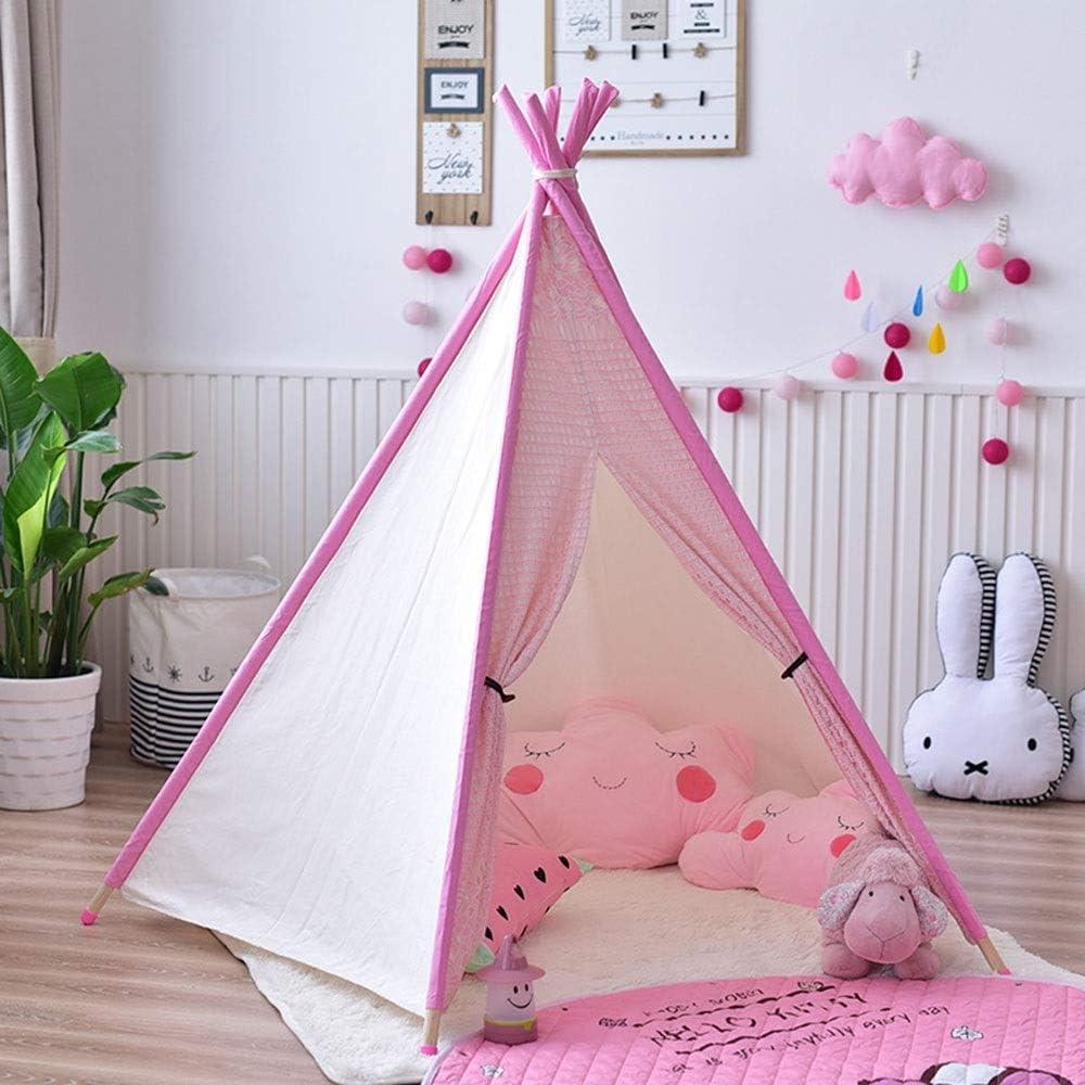 室内キッズテント 少年少女のため子供ルームのインテリアキッズ折り畳み式ティーピーはテント耐久性のある赤ちゃん幼児用テントを再生します おもちゃ子供用 (Color : Pink, Size : 110x110x155cm)