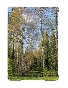 SolBGwQ555Ekeiw Case Cover, Fashionable Ipad Air Case - Green Forest