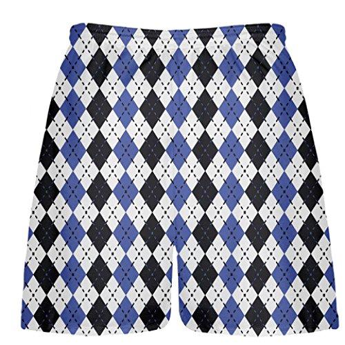 Youth Royal Blue and Black Argyle Youth Shorts