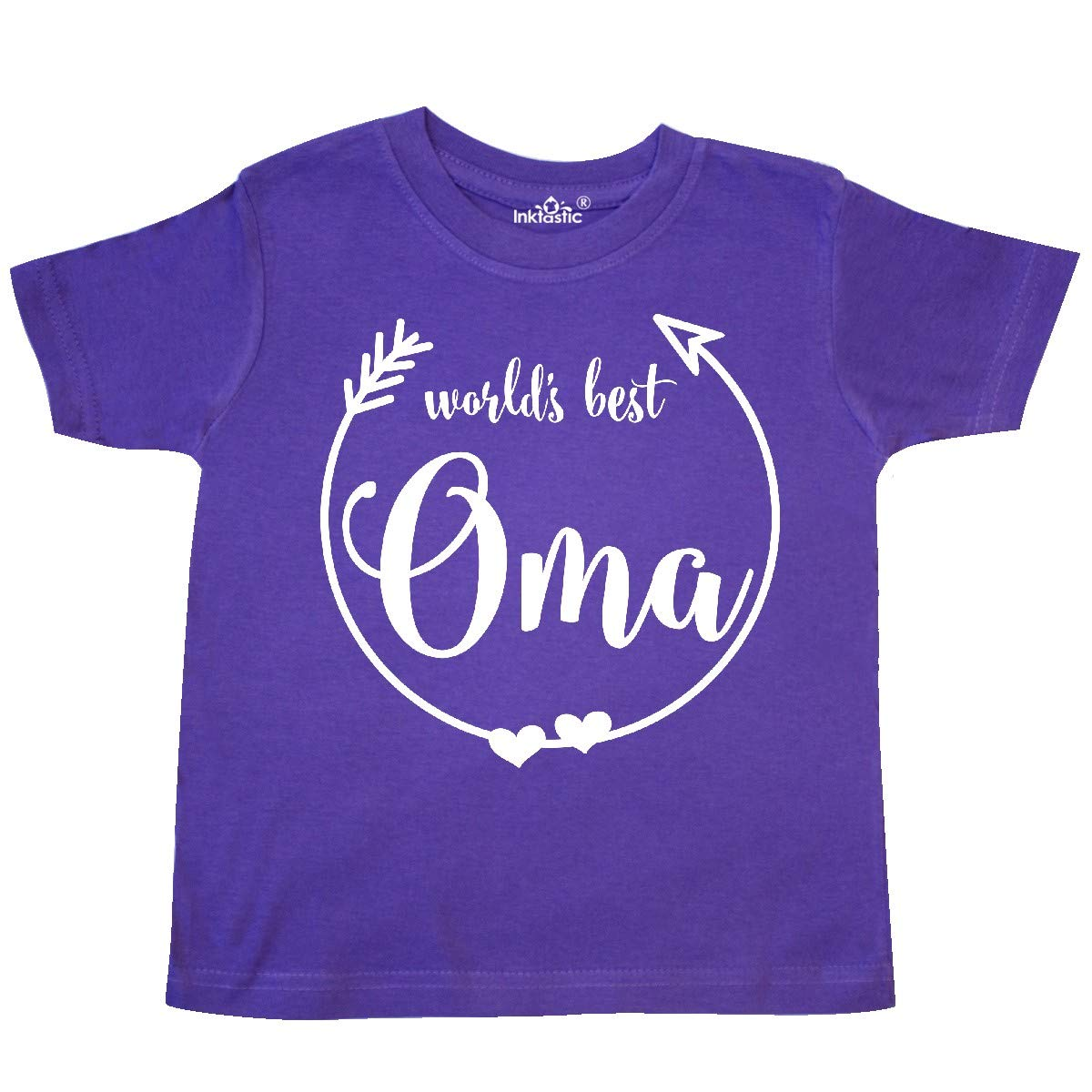 inktastic Worlds Best Oma Toddler T-Shirt White