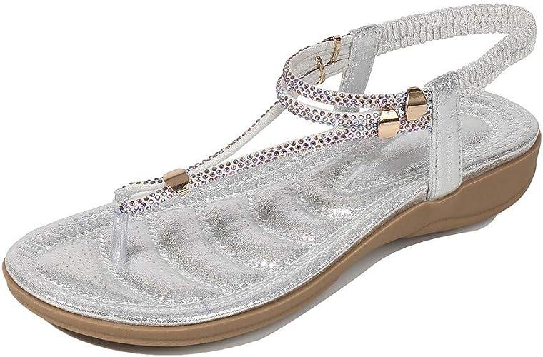 XLGX Sandales Plates Femmes, Chaussures Sandales à Talon pTq6g