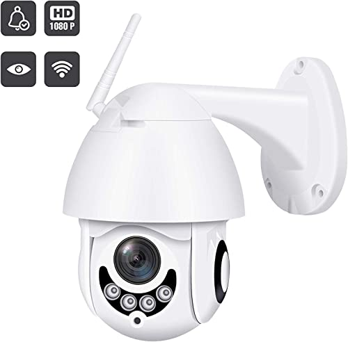 2019 Upgraded Full HD 1080P Security Surveillance Cameras Outdoor Waterproof Wireless PTZ Camera with Night Vision – IP WiFi Cam Surveillance Cam Audio Motion Activated Pearl White