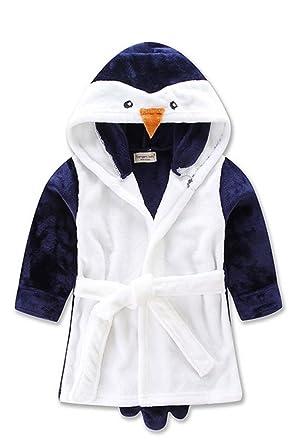 YOGLY Albornoz Para Niños Toalla con Capucha Bata de Baño con Capucha de la de Felpa Pijamas Camisón 1-5 Años: Amazon.es: Ropa y accesorios