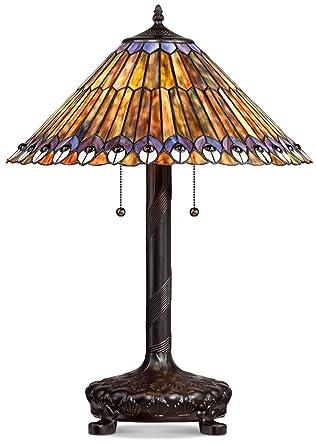 Peacock Motif Robert Louis Tiffany Style Table Lamp Amazon Com