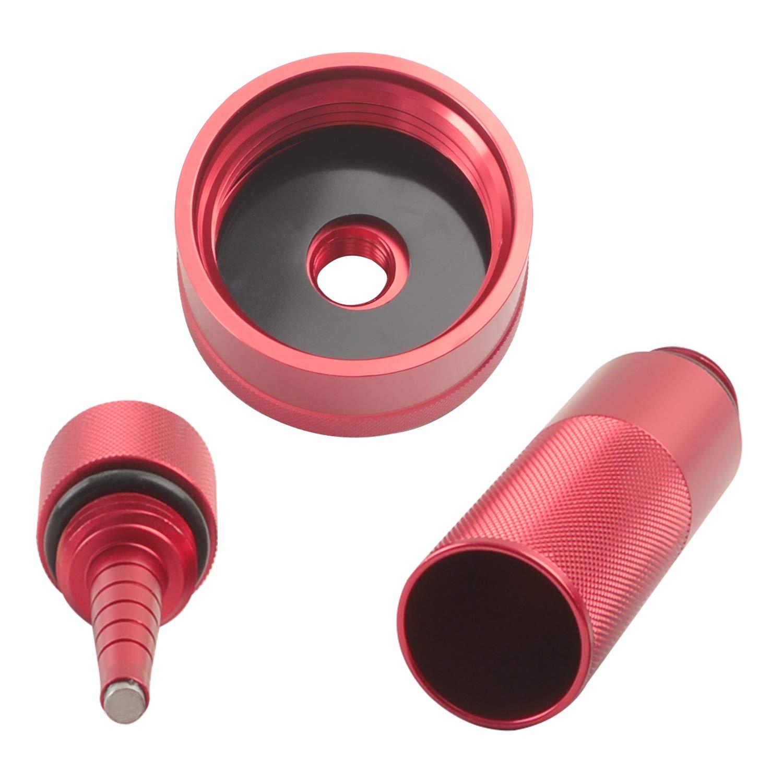 Mess Free Oil Changes Funnel Magnetic Tip Dipstick Oil Dip Stick Fit for Honda Generator EU2000i EU1000i EU3000i Aluminum Extended Run Gas Cap Adapter Silver