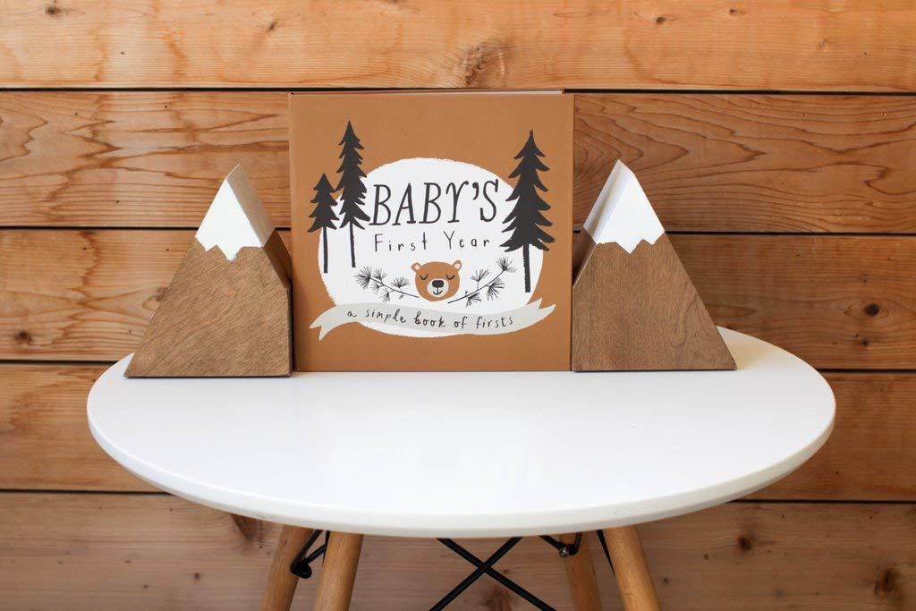 Baby Memory Book of Firsts Baby Books First Year Memory Book Baby Journal and Photo Album Little Camper Memory Book