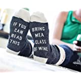 Tmrow Christmas IF You Can Bring Me A Glass Of Wine Beer Coffee Unisex Socks ,Dark Gray