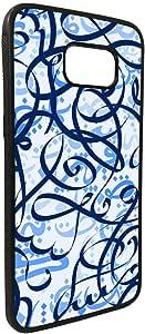 Decorative drawings - blue Printed Case forGalaxy S7 Edge