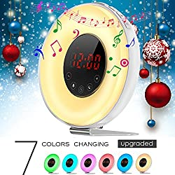 2017 Newest Colored Wake-up Light Alarm Clock,Weton Sunrise/Sunset Simulation Natural Sounds Alarm Clock for kids with FM Radio &Smart Snooze Function
