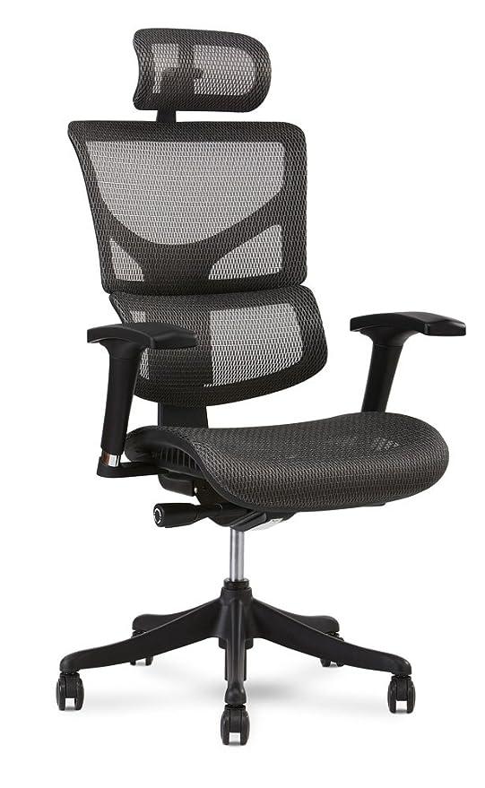 Pleasing X Chair X1 Task Chair Grey Flex Mesh With Headrest Lamtechconsult Wood Chair Design Ideas Lamtechconsultcom